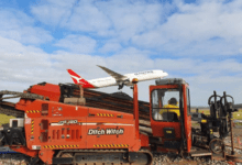 Photo of Ditch Witch onsite at Melbourne airport