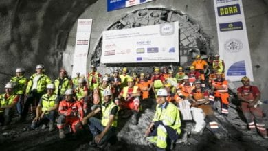 Photo of TBM breaks through on major project