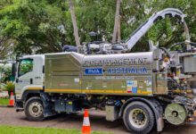 Photo of Hydro excavation on Brisbane's Southbank